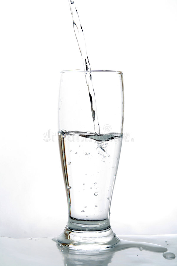 Water glass royalty free stock photos