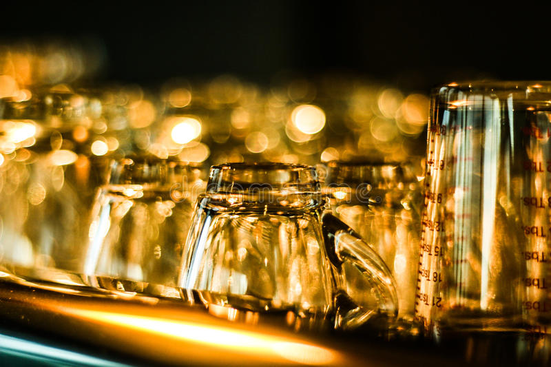 Water glass stock image
