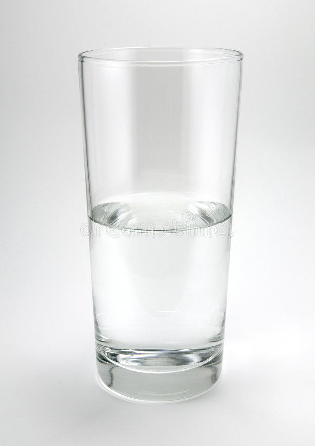 Water Glass on Gray stock photo