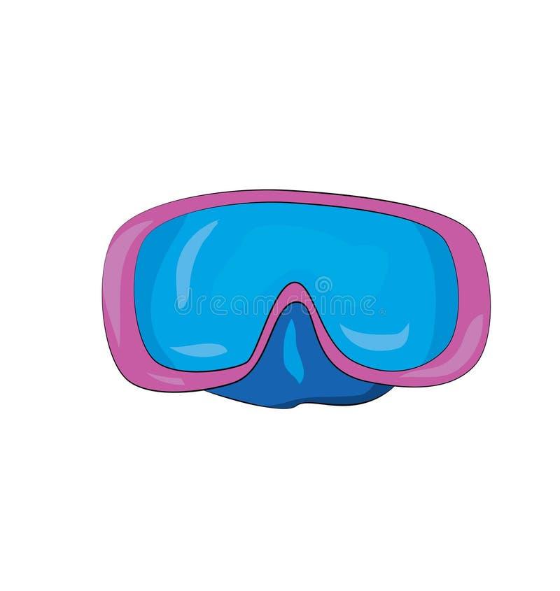 Water glasses cartoon stock image