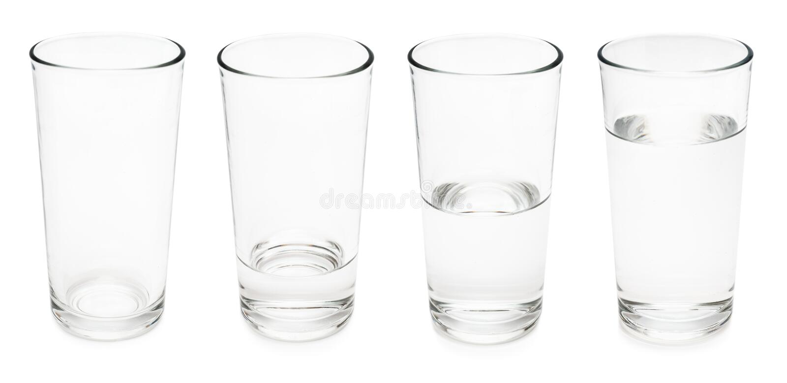 Water glasses stock image