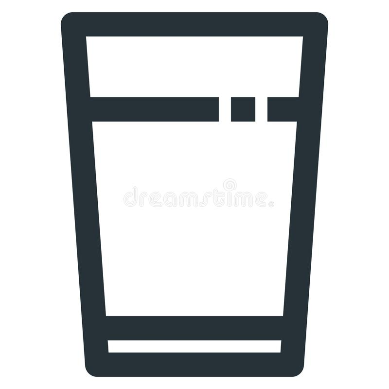Water Glasses Vector Line Icon 32x32 Pixel Perfect. Editable 2 P. Ixel Stroke Weight. Medical Health Icon for Website Mobile App Presentation royalty free illustration