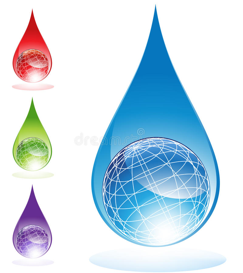 Water Globes stock illustration