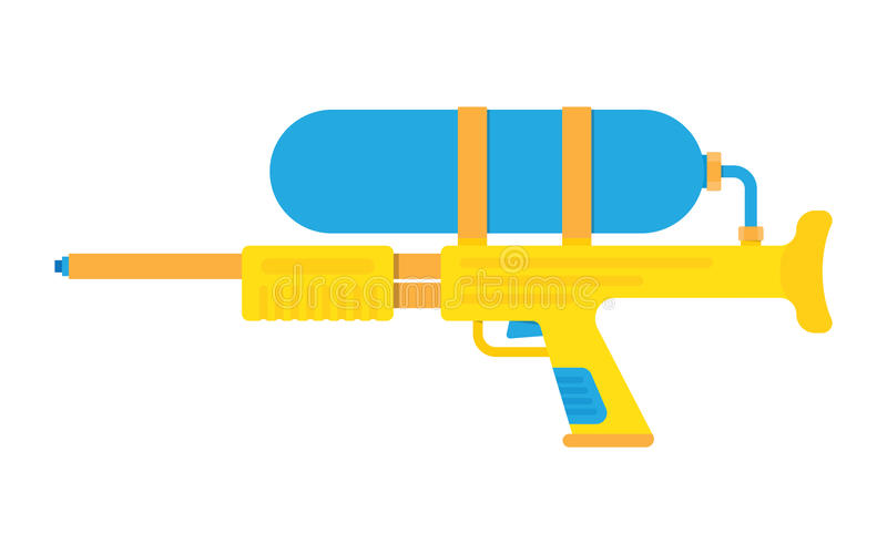 Water gun vector illustration. Icon isolated on white background vector illustration