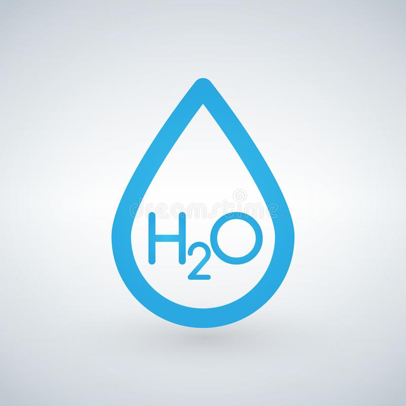 Water h2o drop line icon, outline vector sign, linear style pictogram isolated on white background. ca be used for presentation, u. I, web royalty free illustration