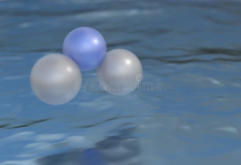 Download Water H2O. Formula On  Eco Concept. 3d Illustration Stock Illustration - Image: 83716537