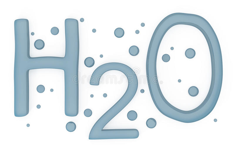 Download Water H2O Sign Isolated On White Stock Illustration - Image: 20159077