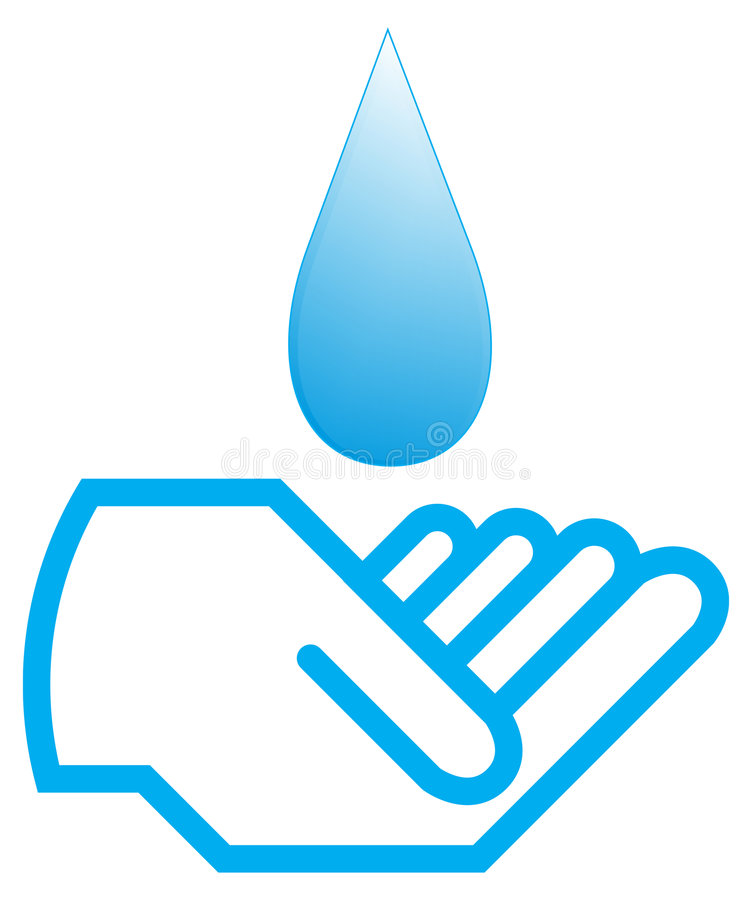 Download Water with hand stock vector. Illustration of business - 8407930