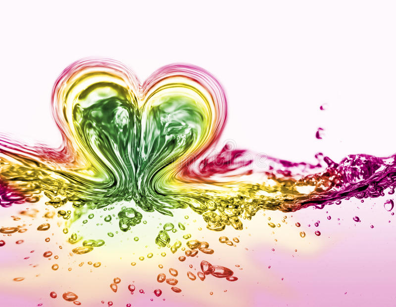 Download Water heart stock image. Image of motion, positivity - 14852209
