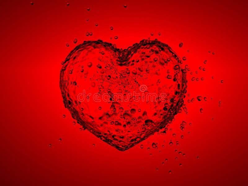 Water heart royalty free stock photos