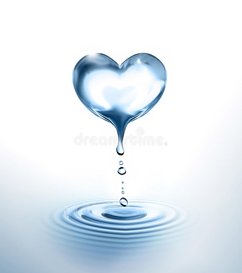 Water heart royalty free stock images