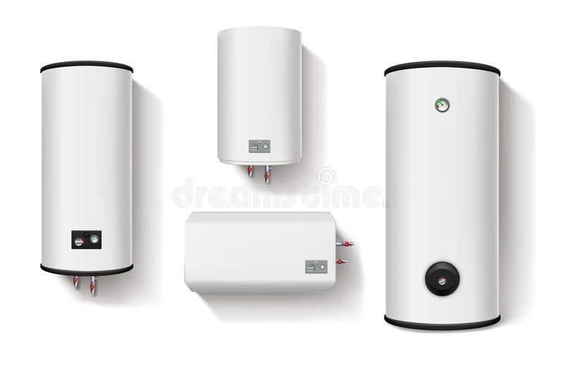Water heater set royalty free illustration