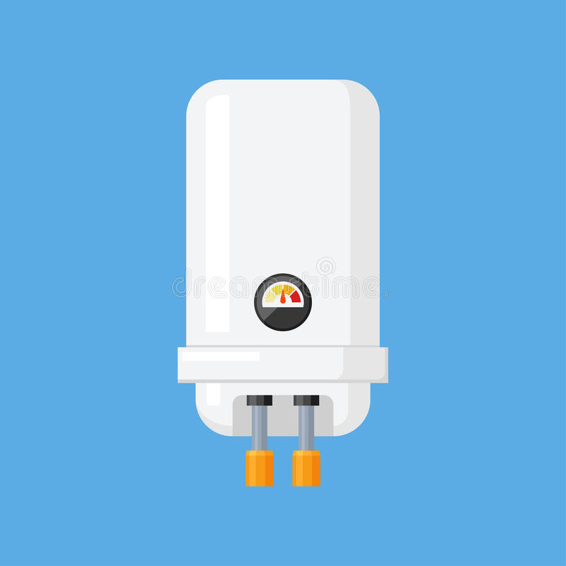 Water heater vector illustration in a flat style royalty free illustration