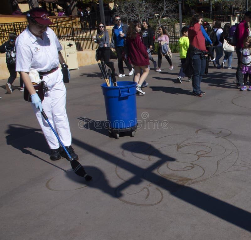 Water het schilderen bij het Avontuur van Disney Californië stock fotografie