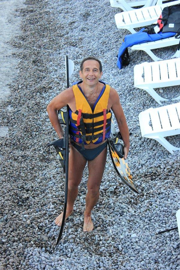 Water het ski?en stock foto's