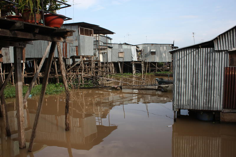 Water Houses royalty free stock photography