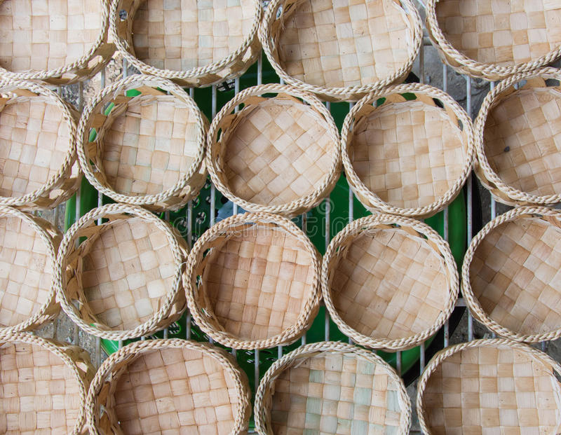 Water hyacinth Basket is Eco-friendly Hand crafted Housewares stock photo