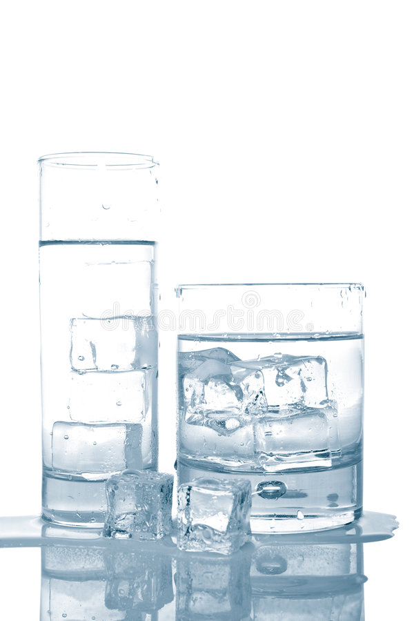 Download Water with ice cubes stock photo. Image of fluid, hydration - 4839138