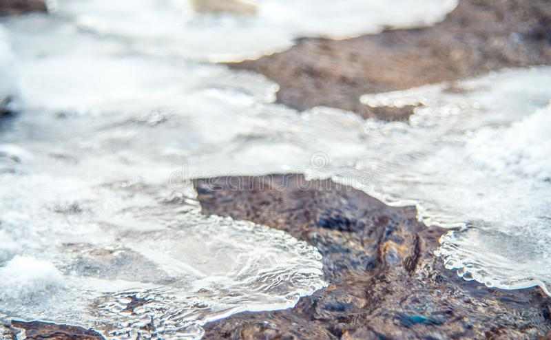 Water and ice stock photos