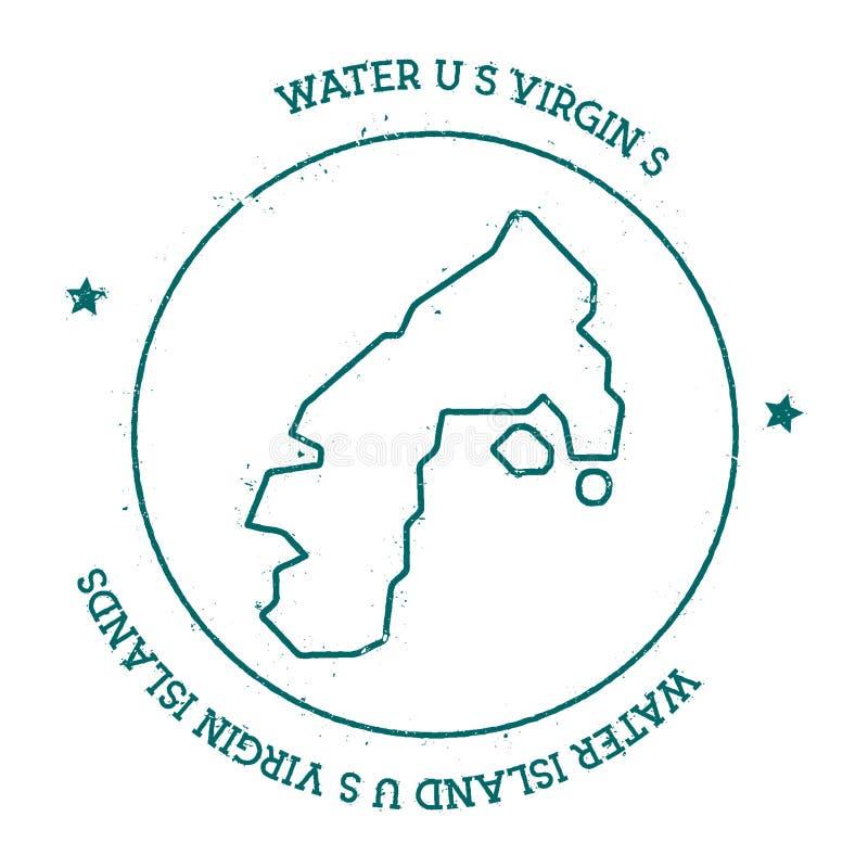 Water Island, U.S. Virgin Islands Vector Map. Stock Vector ...