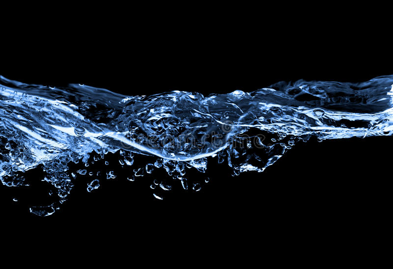 Water isolated on black royalty free stock photos