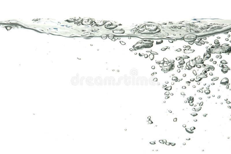 Water isolated over white royalty free stock photos