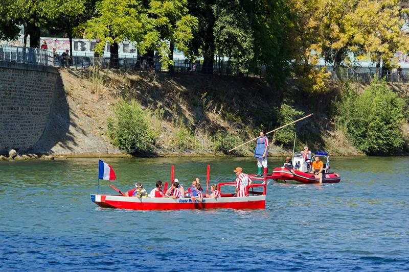Download Water Jousting, Parisian Joust Editorial Stock Image - Image: 26541489