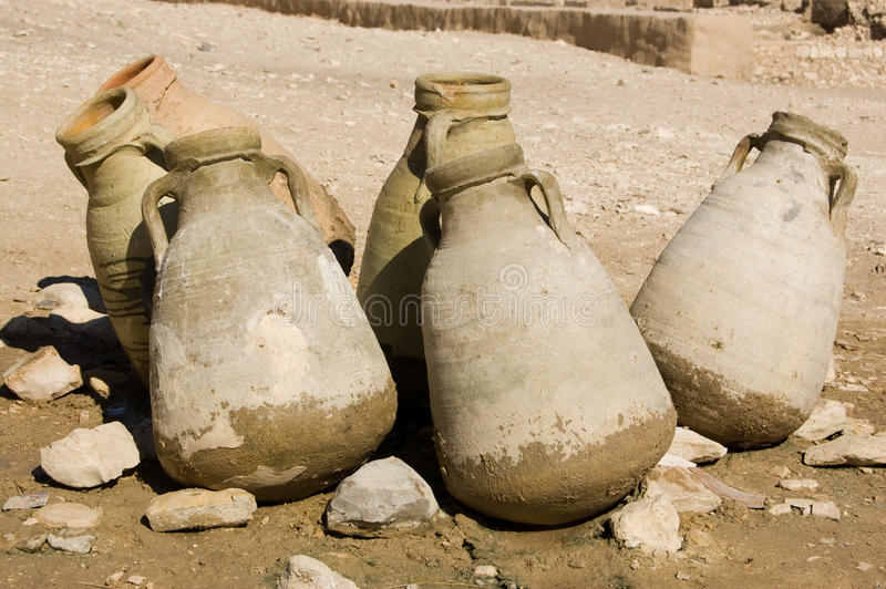 Download Water Jugs in the Desert stock image. Image of desert - 25758299