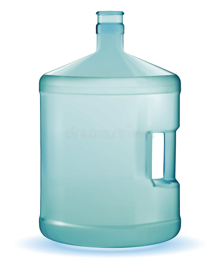 Download Water large bottle stock vector. Image of front, container - 25189528