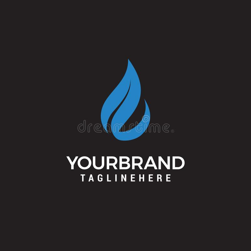Water and leaf vector logo for natural health symbols and clean water company vector illustration
