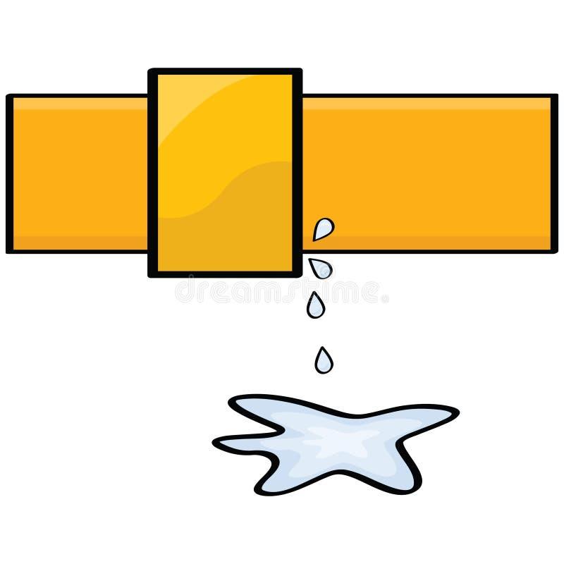 Water leak royalty free illustration