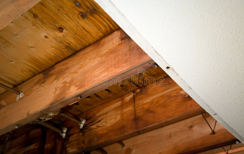 Water leaking. Home Interior Water leaking damage for background royalty free stock images