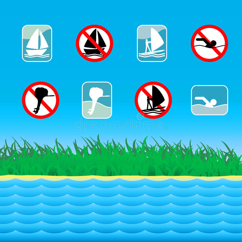 Download Water leisure signs. stock vector. Image of cartoon, engine - 20094488