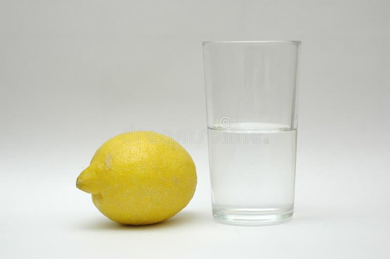 Water and lemon royalty free stock image