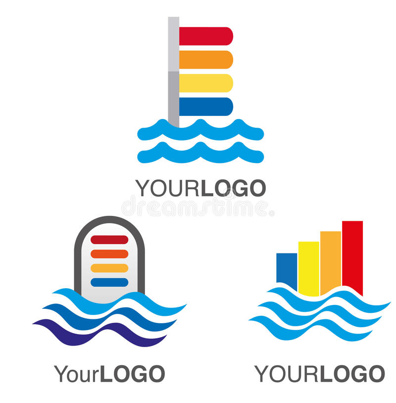 Water level logo vector illustration