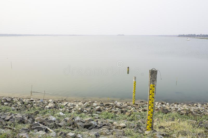 Water level scale stock photo