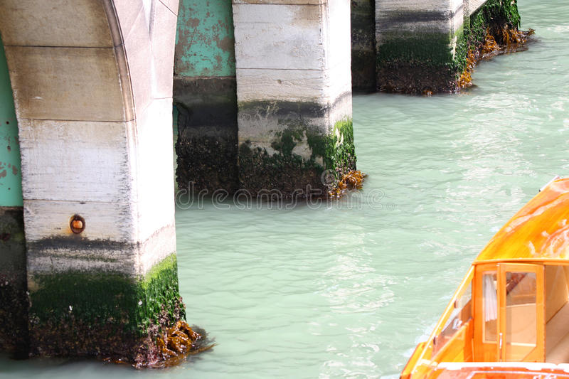 Water level in Venice, Italy stock photography