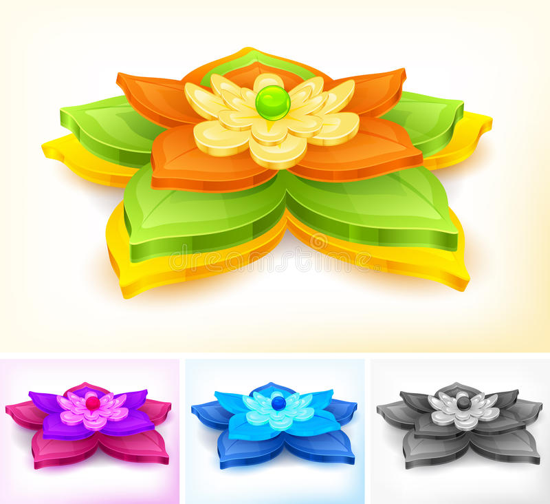 Download Water lily stock vector. Image of floral, nenuphar, water - 26739155