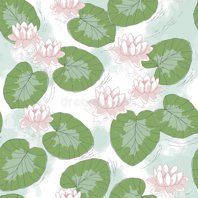Download Water lily on the lake stock vector. Illustration of design - 24542455