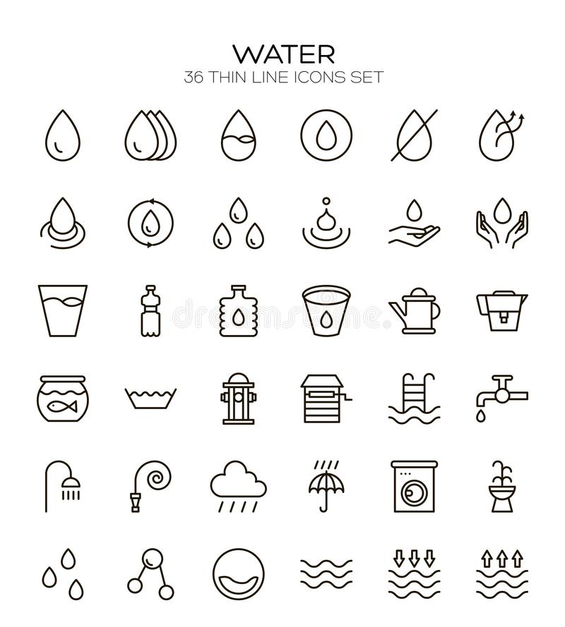 Water line icon royalty free illustration