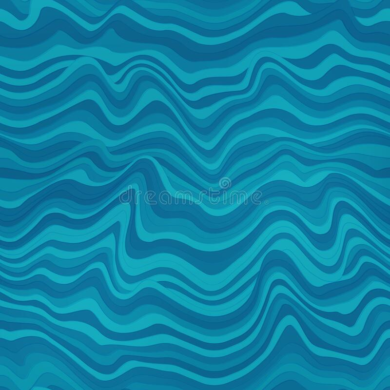 Free Water Lines Geometric Seamless Pattern Royalty Free Stock Photography - 178966737