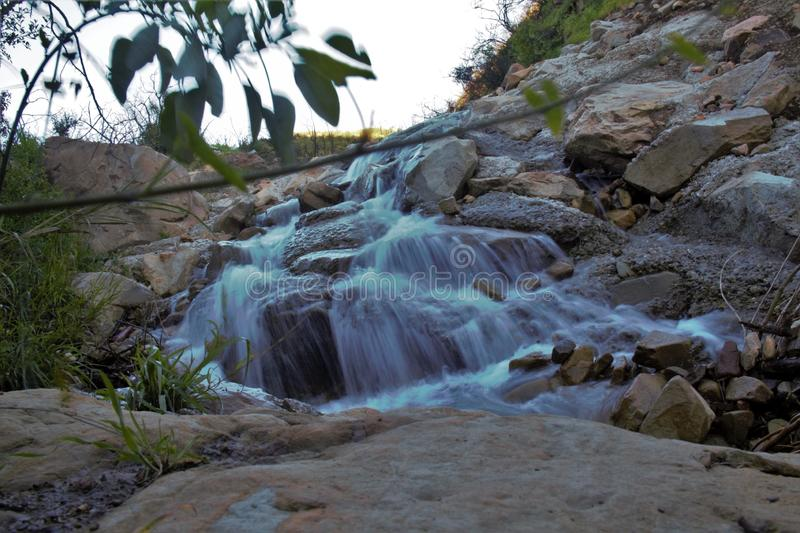 Water. Longexposure stream river fall royalty free stock photography