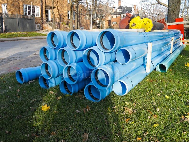 Water mains repair royalty free stock images