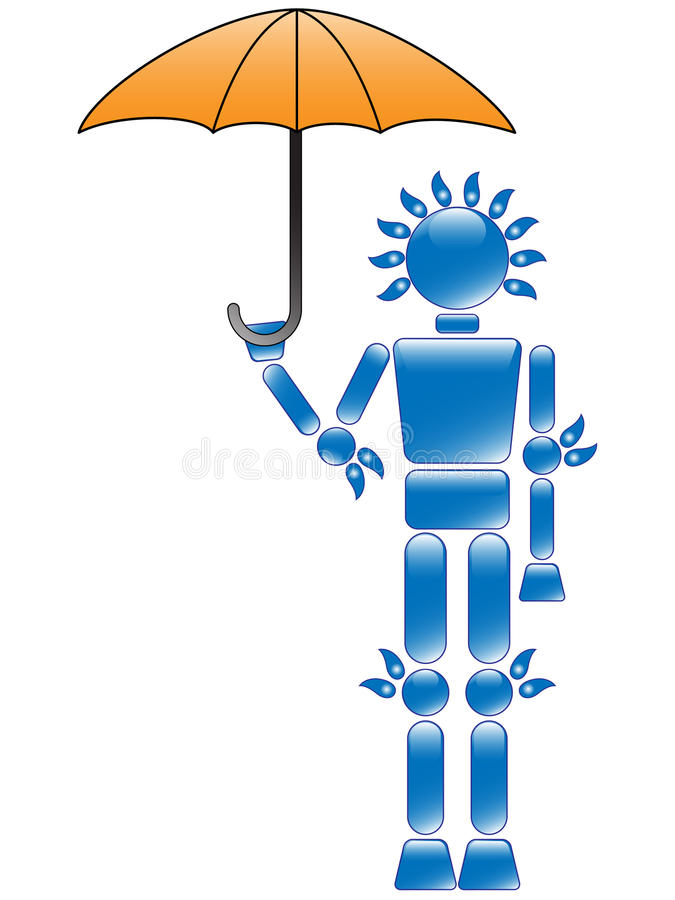 Download Water Man stock vector. Illustration of friendly, character - 10445224