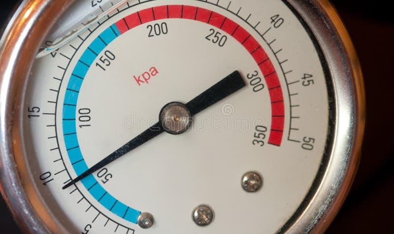 Water manometer. Close-up of a water manometer (pressure meter stock images