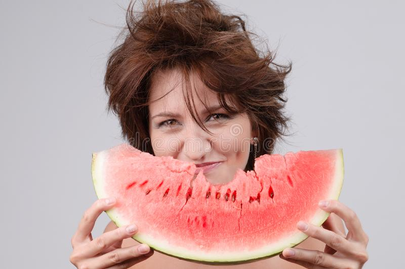 Download Water-melon diet stock photo. Image of lunch, attractive - 17170122