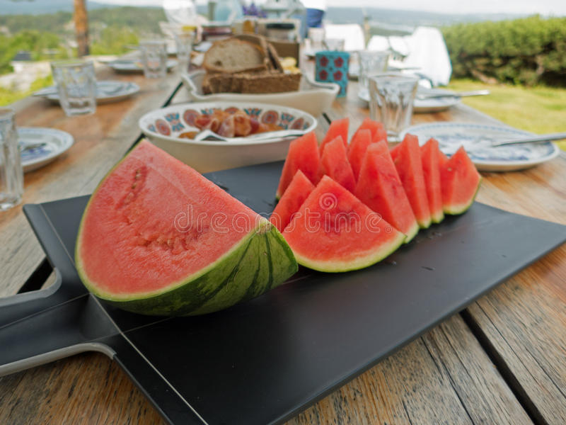 Water melon for the family stock photos