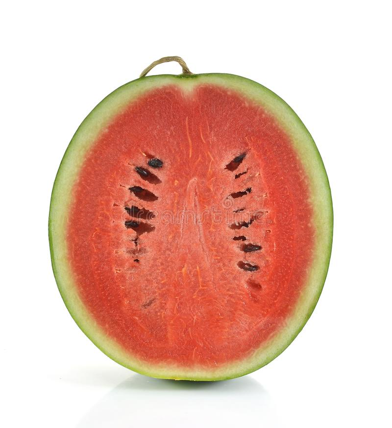 Water melon isolated on white background stock photo