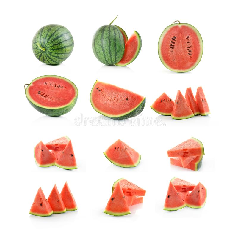Water melon isolated on white background royalty free stock photography