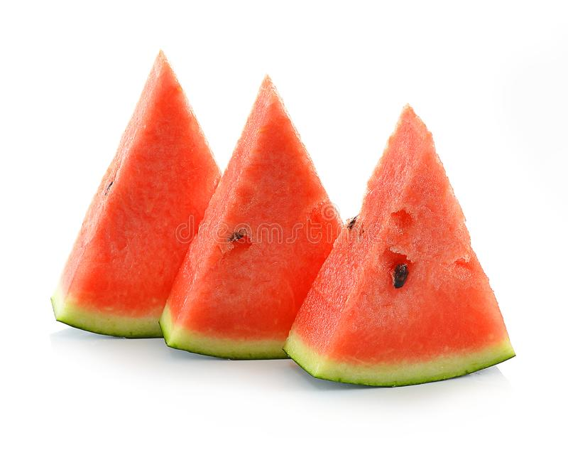 Water melon isolated on white background stock photography